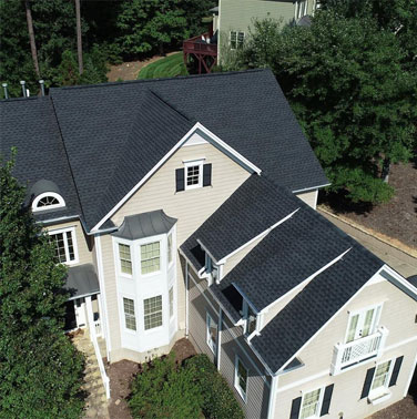 Stylish Shingle Roof Surface