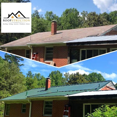 Before-and-After Metal Roof Project
